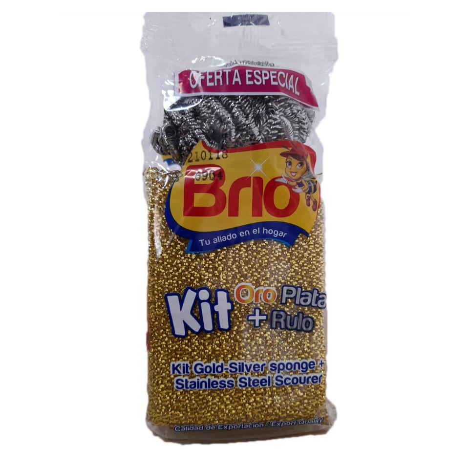 Kit Esponja  Oro PLata Brio Rulo
