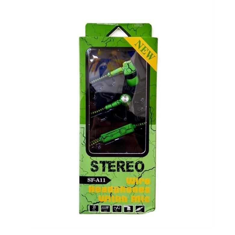 Audífonos Estándar con Cable Verde