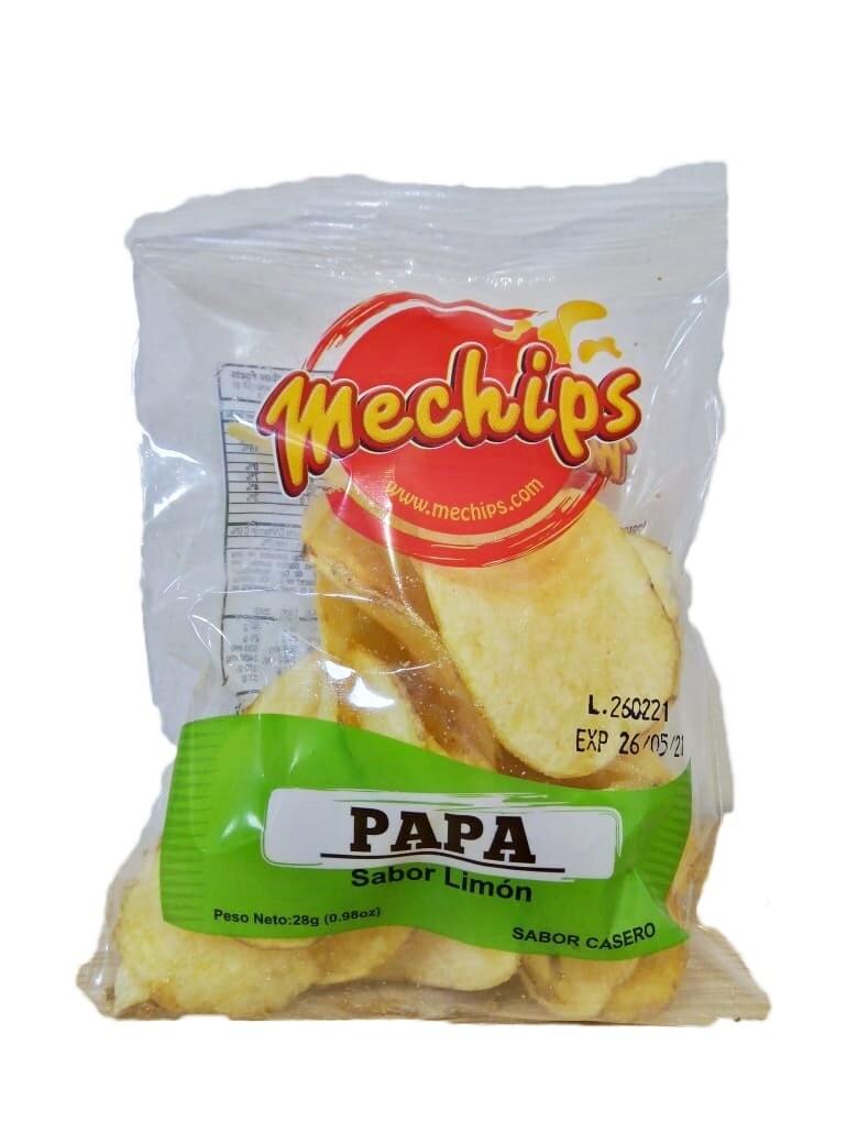 Papas Limon Mechips 28g