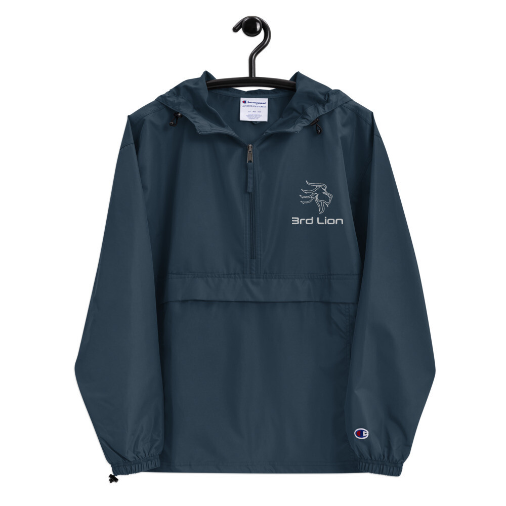 3rd Lion - Embroidered Champion Packable Jacket