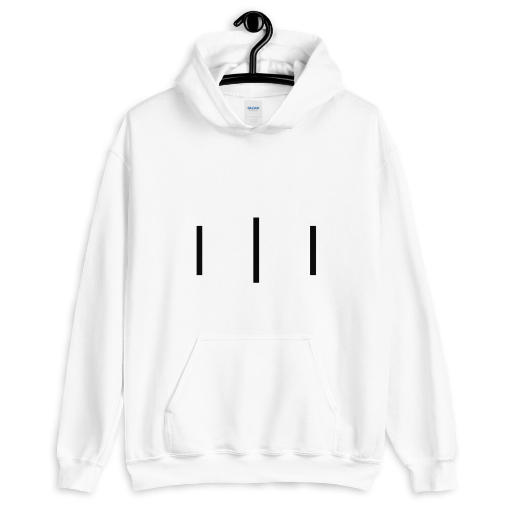 Trinity Logo III 3rd Lion - White - Unisex Hoodie