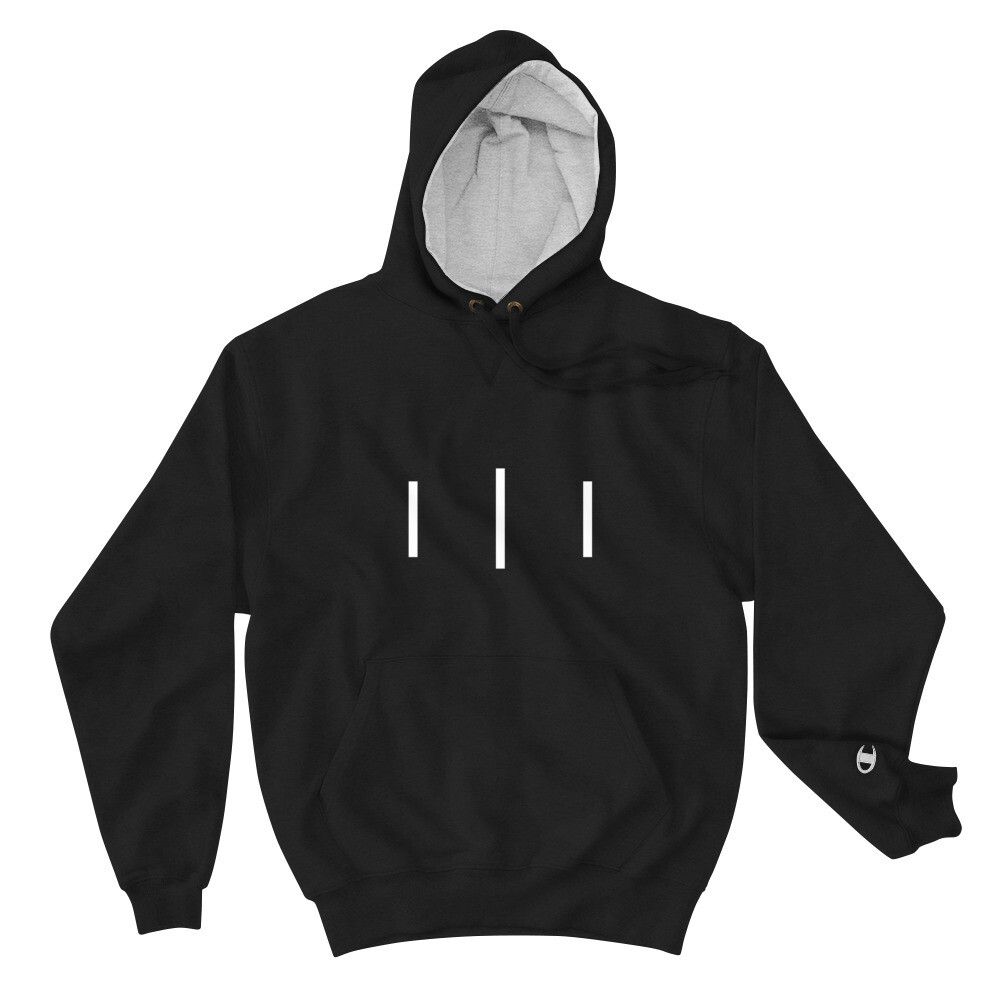III Simple Logo - Champion Hoodie