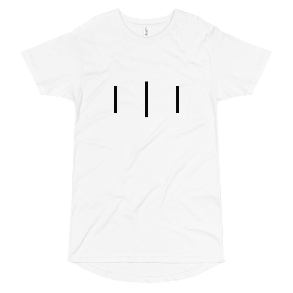 III Simple Logo - Long Body Urban Tee