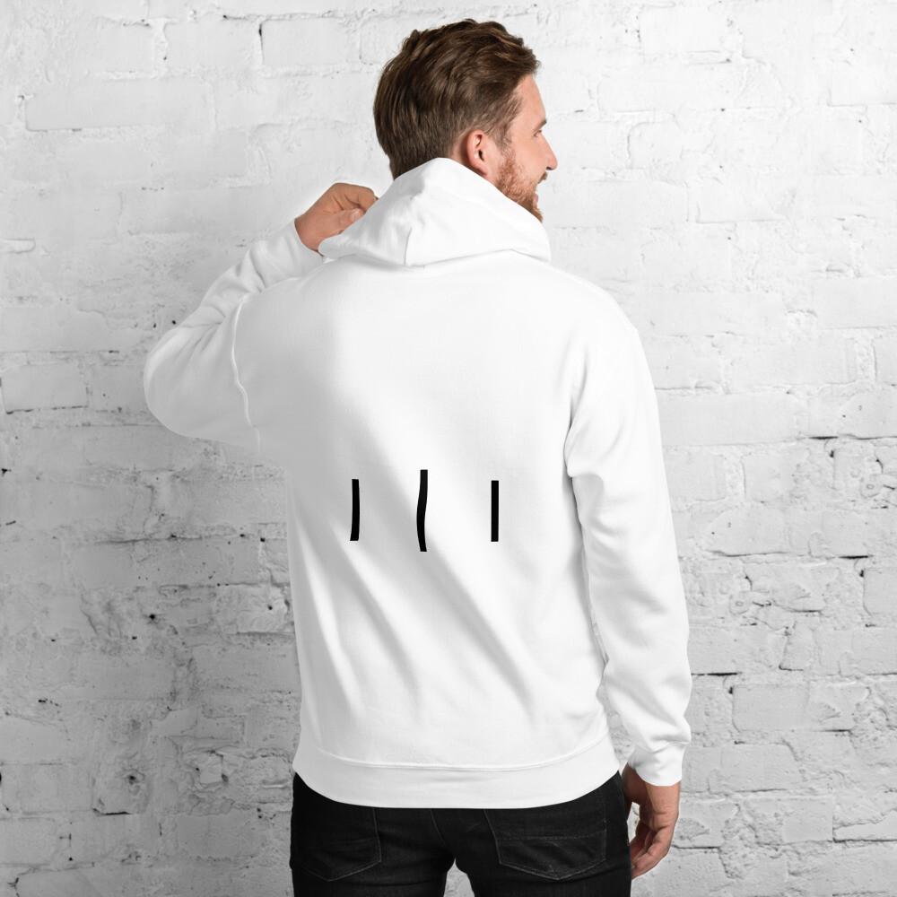 III Logo Simple Design Back - Unisex Hoodie