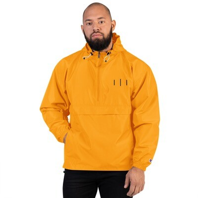 III Simple Logo 3rd Lion Gold - Embroidered Champion Packable Jacket