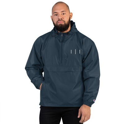 III Simple Logo 3rd Lion Blue - Embroidered Champion Packable Jacket