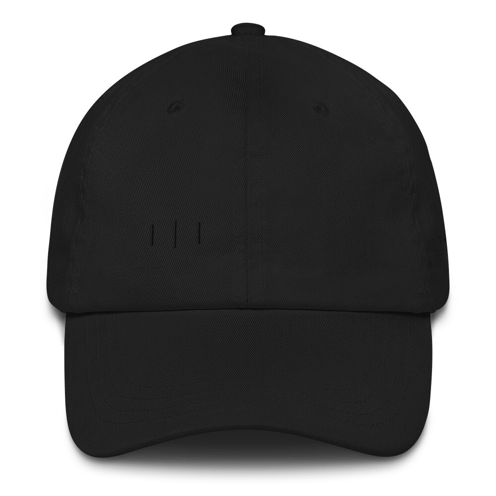 III Simple Logo - Subtle Stitching - Dad hat