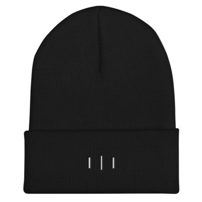 III Simple Logo - 3rd Lion - Cuffed Beanie