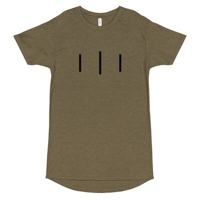 III Trinity Logo - 3rd Lion - Olive - Long Body Urban Tee