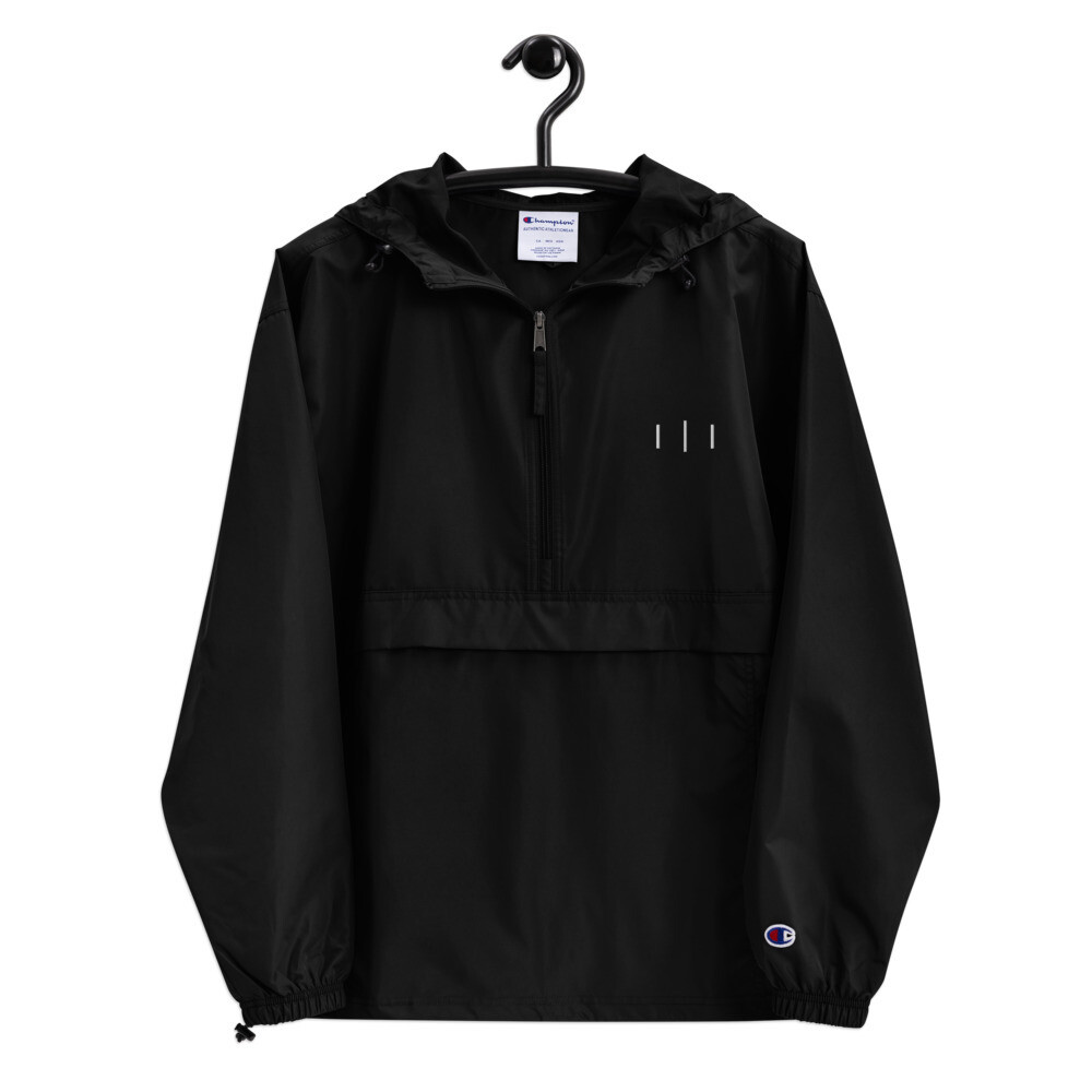 III Trinity Logo - 3rd Lion - Embroidered Champion Packable Jacket