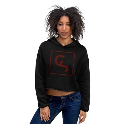 CS Red Icon - Crop Hoodie