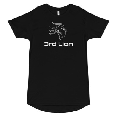 3rd Lion - Lion Head Logo - Long Body Urban Tee