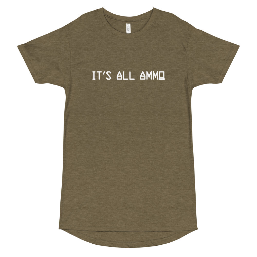 It's All Ammo - 3rd Lion - Heather Olive - Long Body Urban Tee