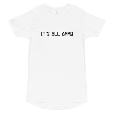 It's All Ammo - 3rd Lion - White - Long Body Urban Tee
