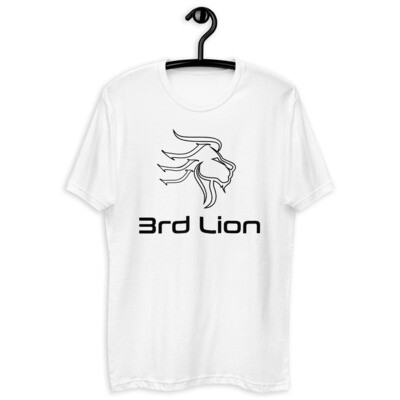 3rd Lion - White - Black Logo - Short Sleeve T-shirt