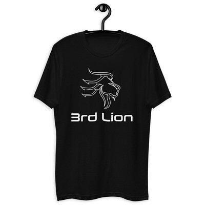 3rd Lion - Black - White Logo - Short Sleeve T-shirt