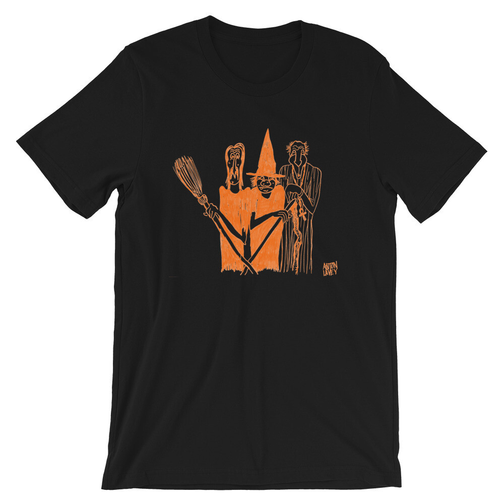 Anton LaVey's Original Drawing Halloween Ghouls T-Shirt