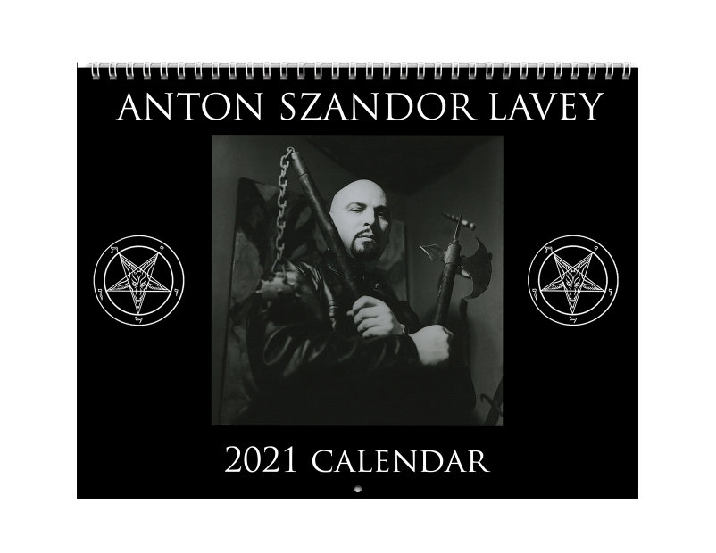 Anton LaVey Classic Poloroid 2021 Calendar