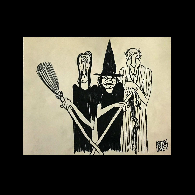 Anton LaVey Original Drawing Limited Art Print