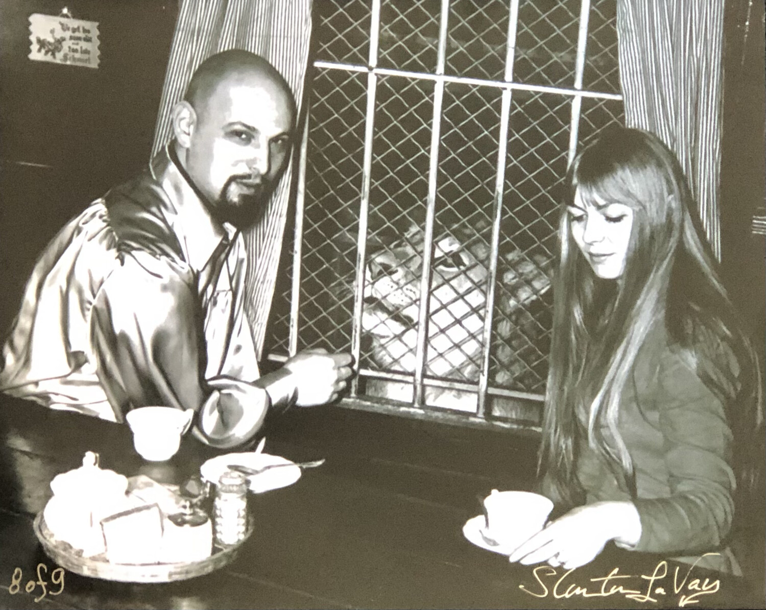 Anton & Diane LaVey With Pet Lion Togare Signed