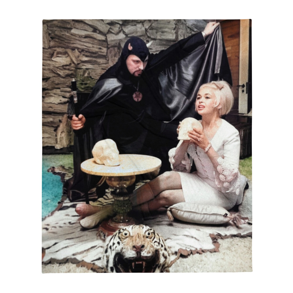 Anton LaVey and Jayne Mansfield Throw Blanket