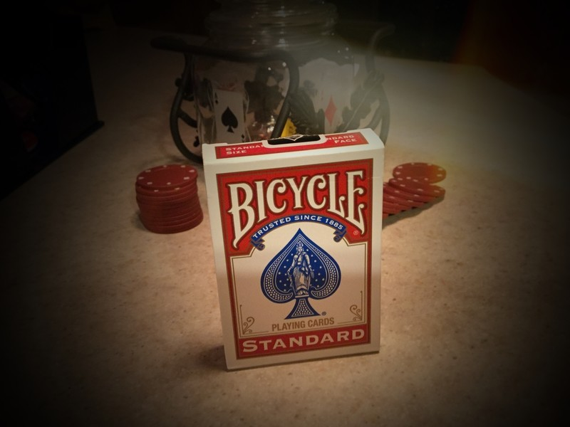 Bicycle Rider Backs - Red Practice Deck