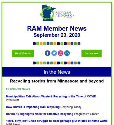 RAM Newsletter Ad