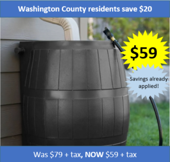 Washington County Black Rain Catcher - Discounted