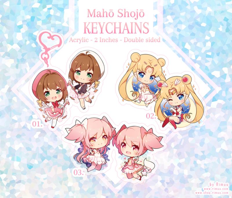 Maho Shojo Acrylic Keychains