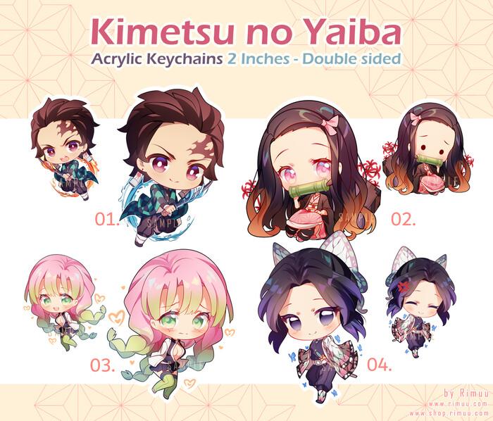 Kimetsu no Yaiba Acrylic Keychains