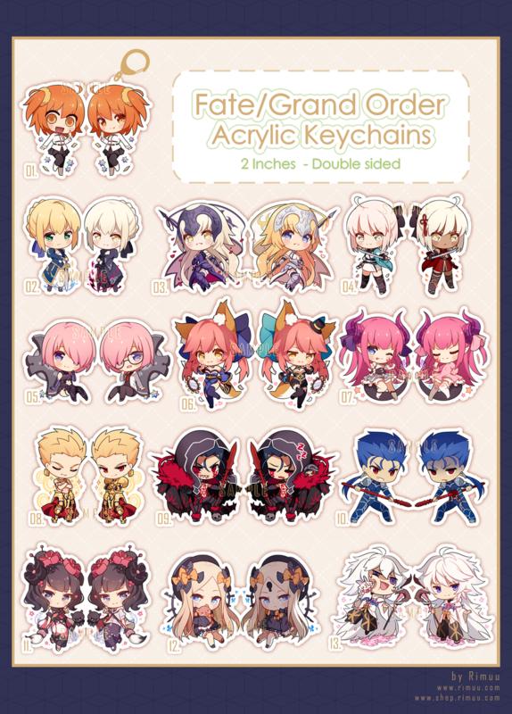 FGO Acrylic Keychains Pt. 1