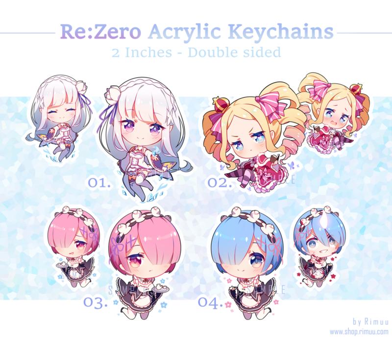 Re:Zero Acrylic Keychains