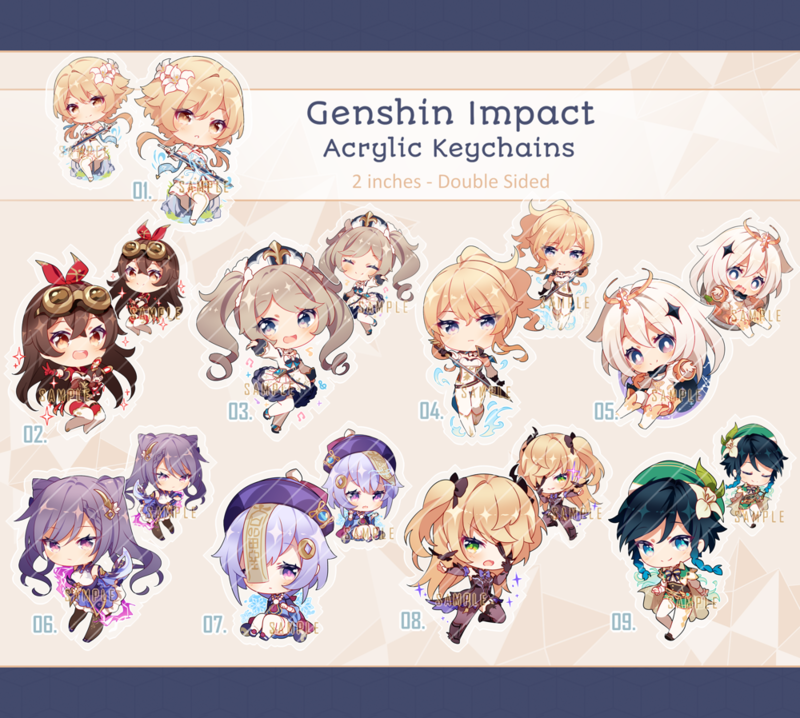 Genshin Impact Acrylic Keychains