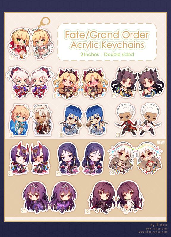FGO Acrylic Keychains Pt. 2