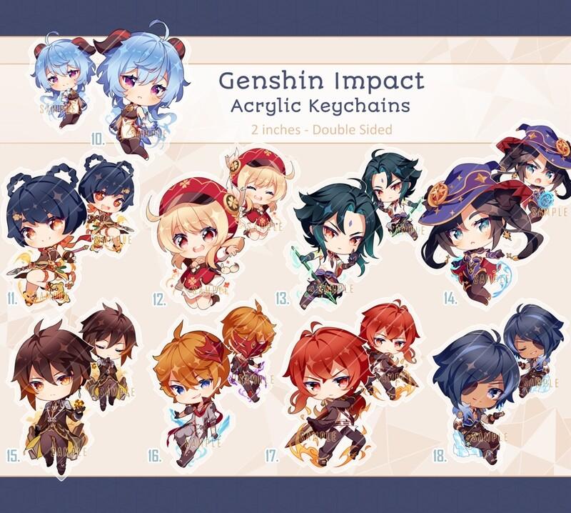 Genshin Impact Acrylic Keychains Pt.2