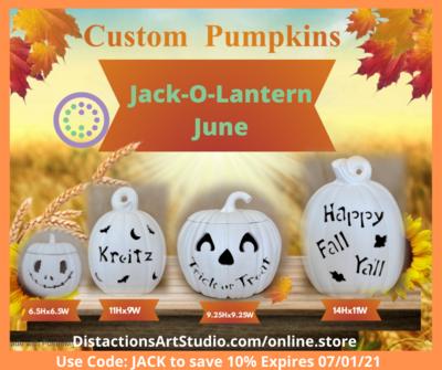 Lg. Personalize Pumpkin Oval