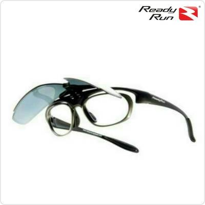 FR001-01 Frame Matt Black, Lenses Blue Mirror