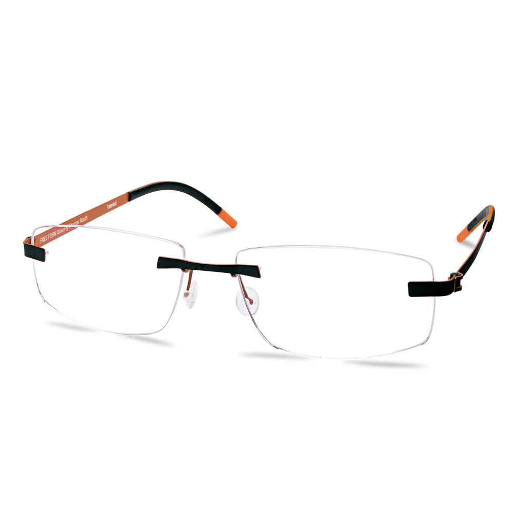 Green Rimless FFA957 Dark Gun/Orange   (56-16-145 mm)  size L
