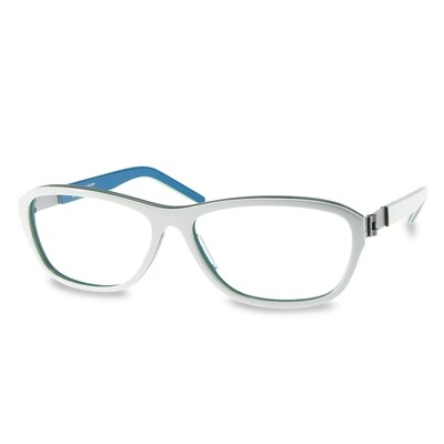 Acetate FFA981  White-Blue (54-14-135 mm) size S