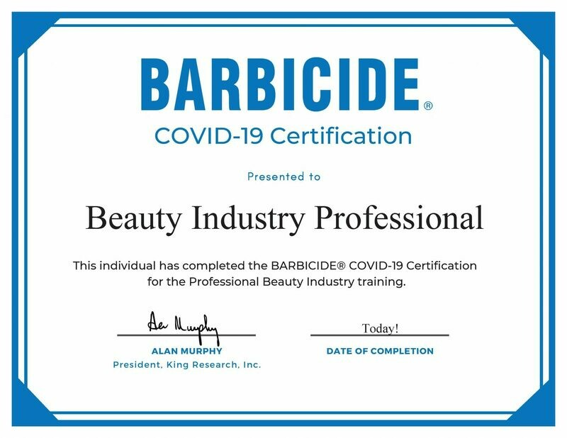 Barbicide COVID-19 Certification