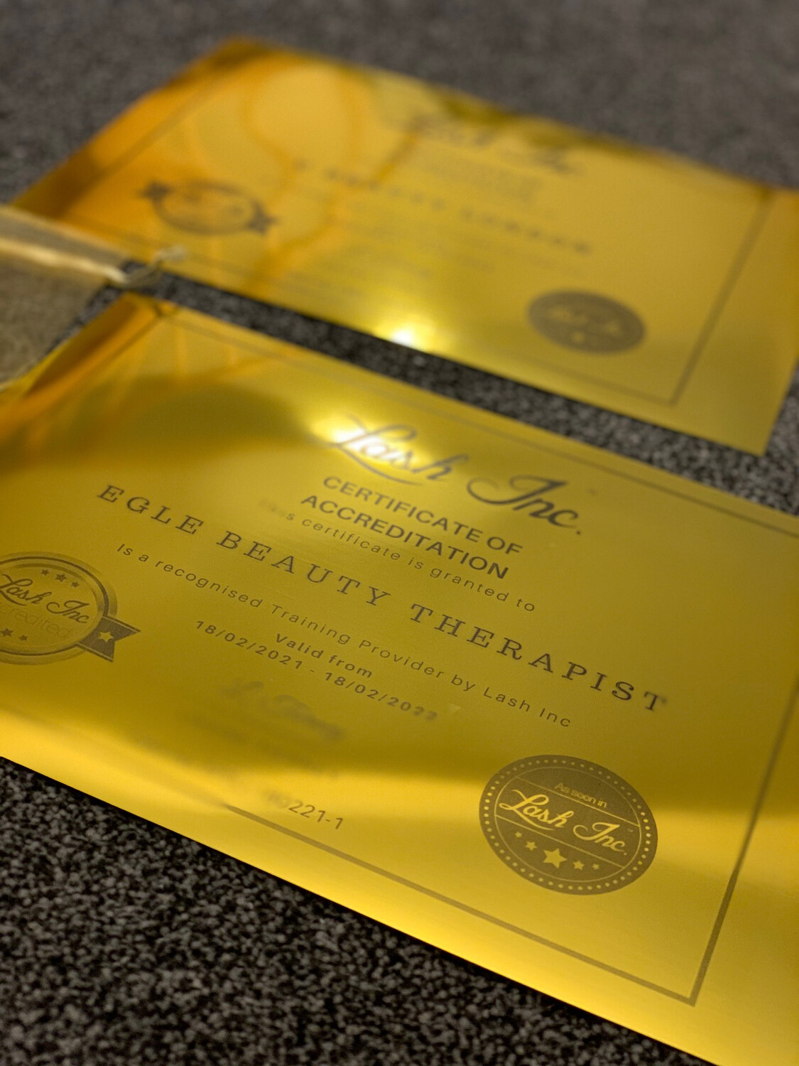 Gold Print Accreditation Certificate