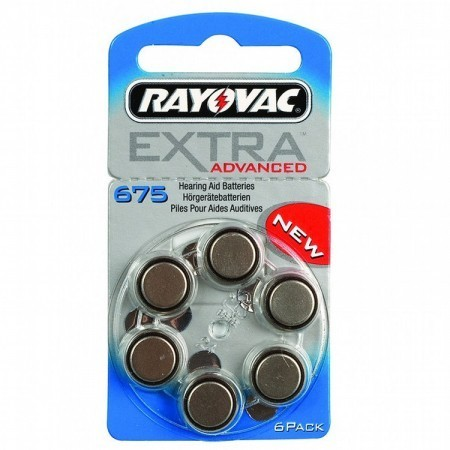 Rayovac Size 675 Batteries (Box of 60 Cells)