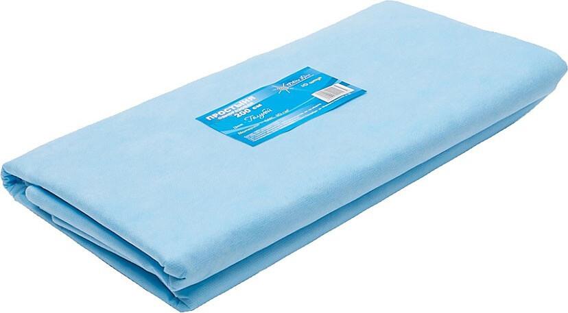 Простыня одноразовая White line 140х200 SMS 20 голубой № 10 тпачка