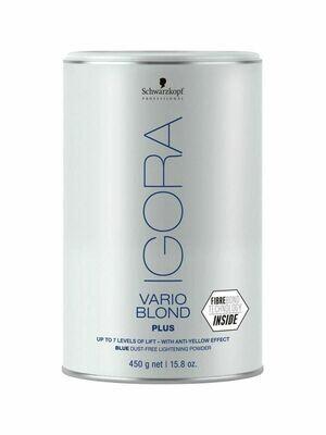 Schwarzkopf Professional / Голубой порошок для обесцвечивания волос Igora Vario Blond Plus, 450g