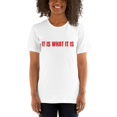 It Is What It Is Short-Sleeve Women's Black T-Shirt