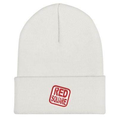 Red Square Logo Cuffed Beanie