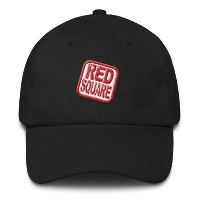 Red Square Cotton Cap