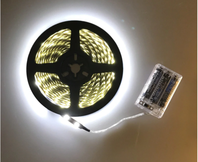 Pure White LED - Battery Powered