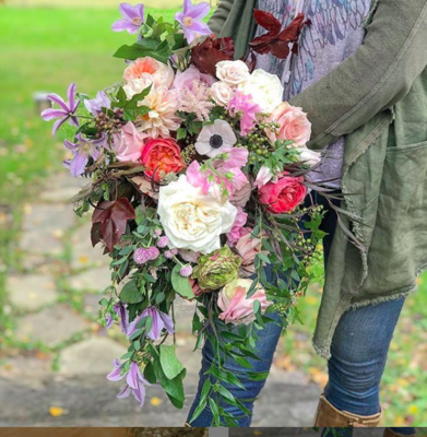 Live Floral Tutorial - Spring Cascade Bouquet