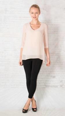 Slit back blouse Peach